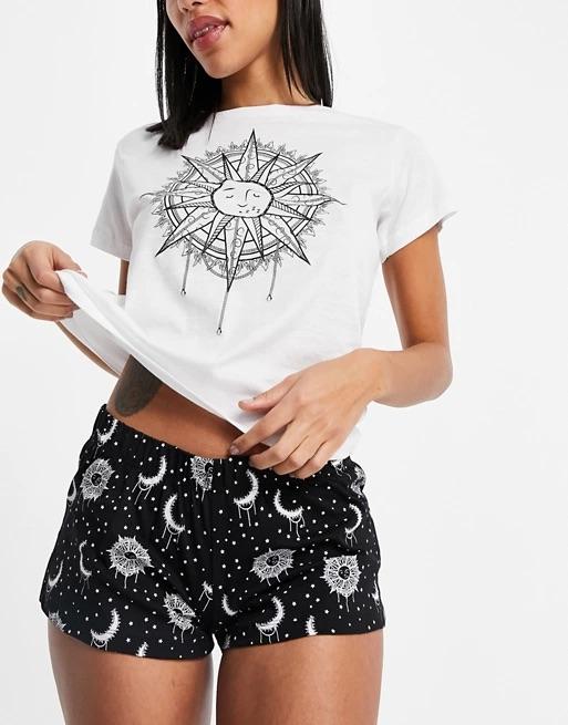 Brave Soul t-shirt and shorts pyjama set