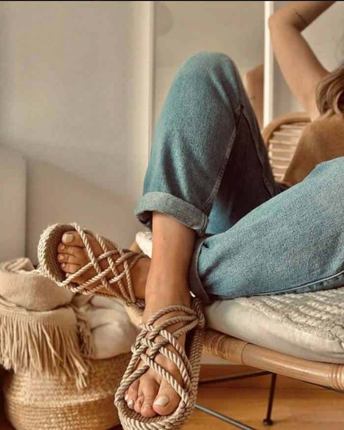 Nomadic State of Mind Lounger Sandals- Handmade Adjustable Rope Shoes – Machine Washable – Comfortable & Lightweight – Vegan Friendly – for Women & Men