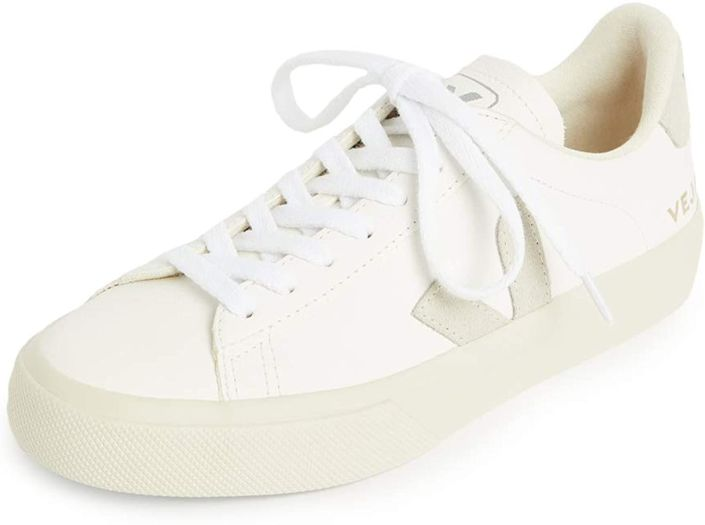 Veja Campo Chromefree White Leather Women Sneaker, Size UK: