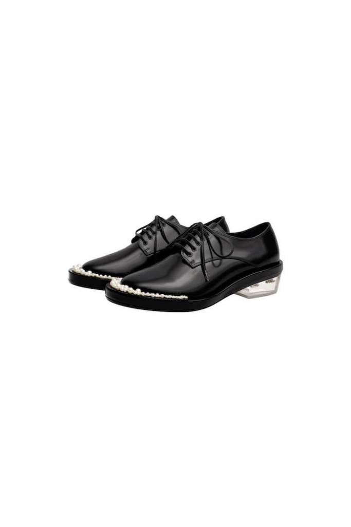 Leather Derby shoes simone rocha x h&m £199.99