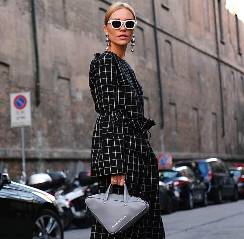 Woman at Milan Fashion Week