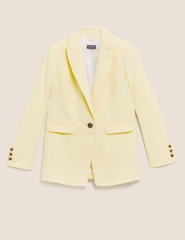 yellow Tailored Blazer, £59, Marks & Spencer
