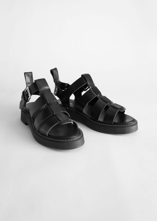 & Other Stories Chunky Leather Gladiator Sandals