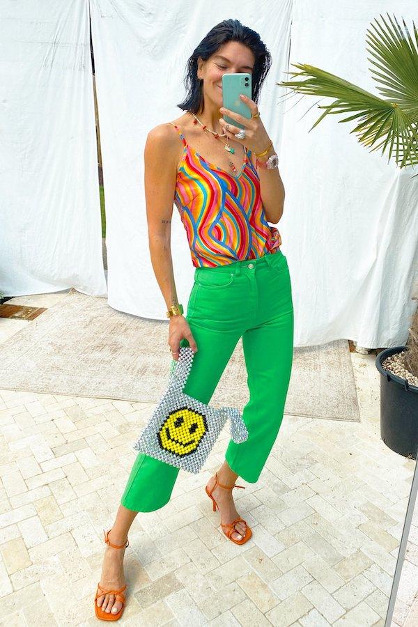Green Straight Leg Jean Never Fully Dressed