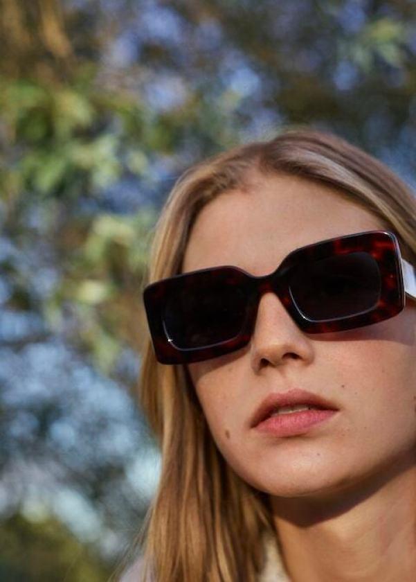 Tortoiseshell-effect Acetate Sunglasses mango