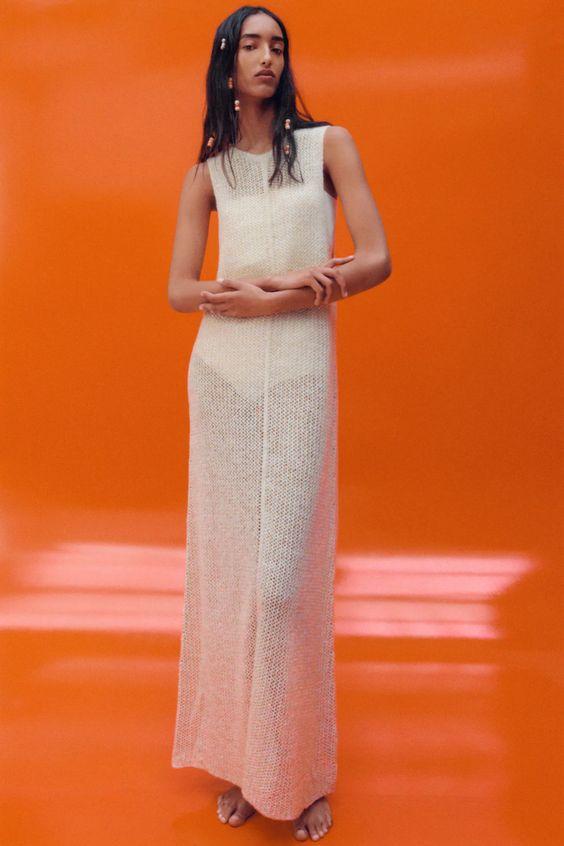 Long Knit Dress Zara