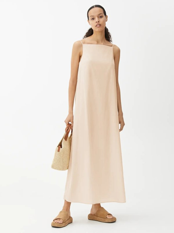 Cotton Voile Slip Dress