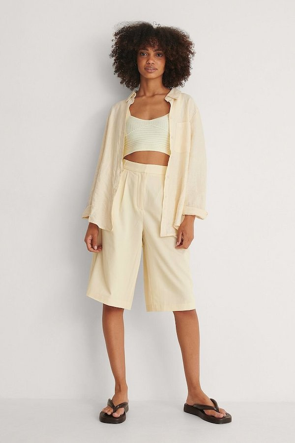 Wide Leg Tailored Culottes, £32.95, NA-KD
