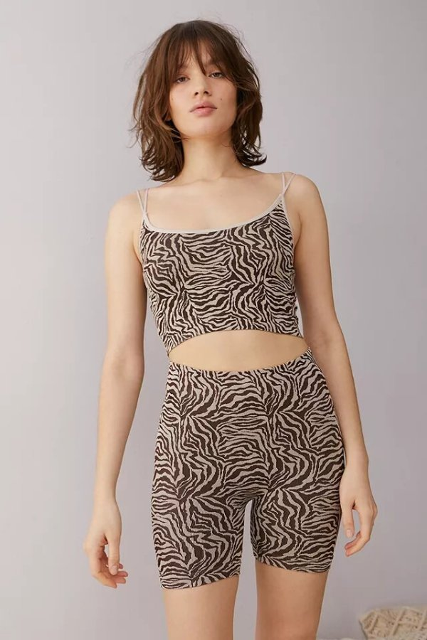 Out From Under Zebra Cycling Shorts urban outfitters