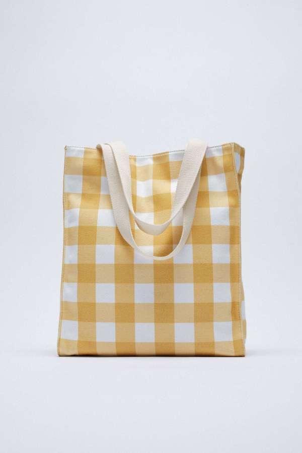 Gingham Tote Bag Zara