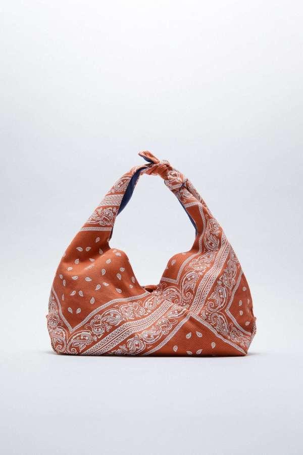 Paisley Midi Bucket Bag Zara