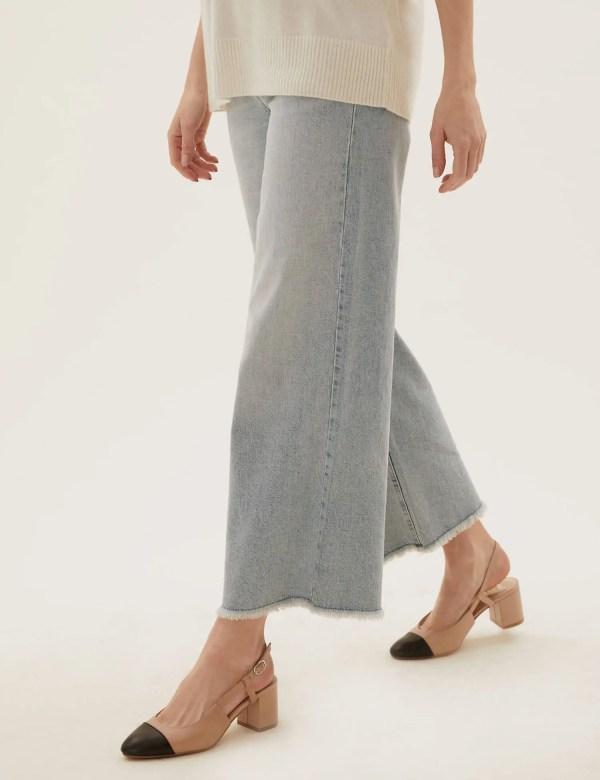Chanel Slingback dupes Leather Block Heel Slingback