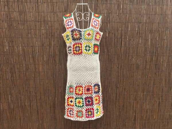 Etsy Granny Square Crochet Dress