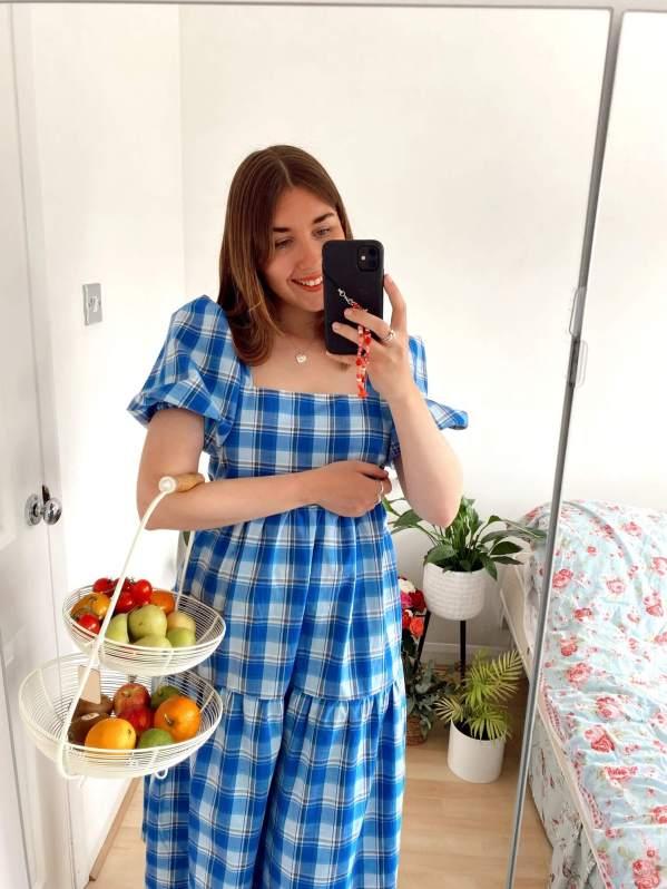 Evie Ashwin With Love Evie wearing the esme blue dress