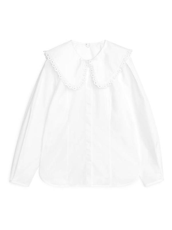 Wide-Collar Blouse Arket