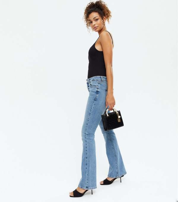 New Look Blue Low Rise Flared Brooke Jeans