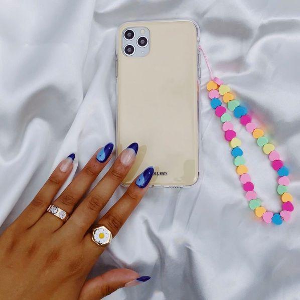 fifth and ninth neon heartsbeaded phone charm