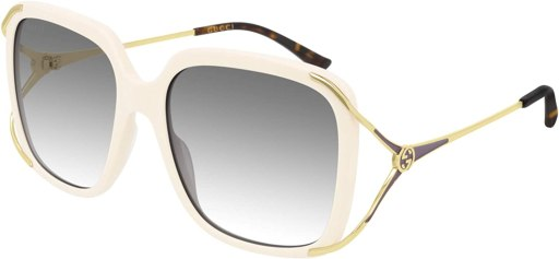 Gucci sunglasses GG0647S 004 Ivory gray size 56 mm Women's amazon