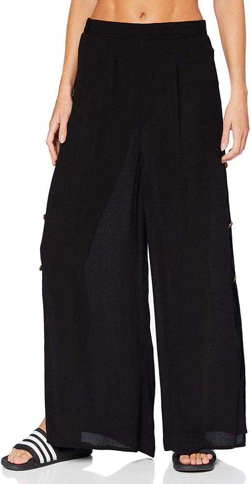 Dorothy Perkins Women's Black Coco Butter Trousers Swimwear Cover Up amazon