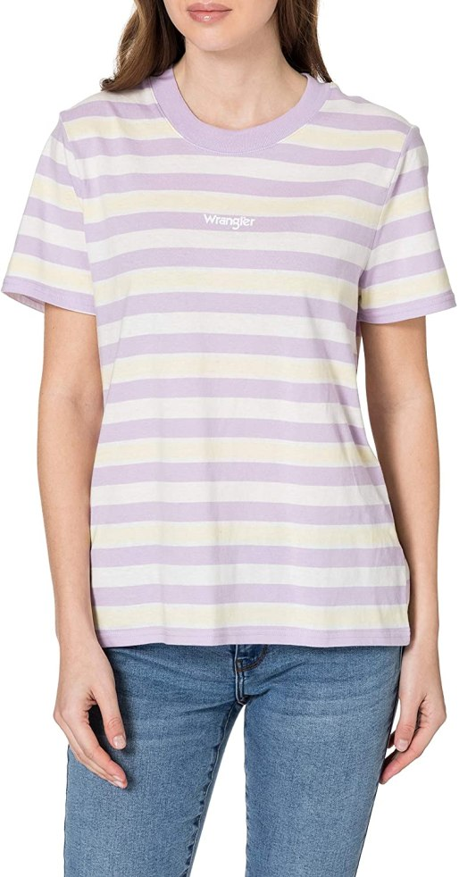 Wrangler Women's High Rib Regular Tee T-Shirt amazon