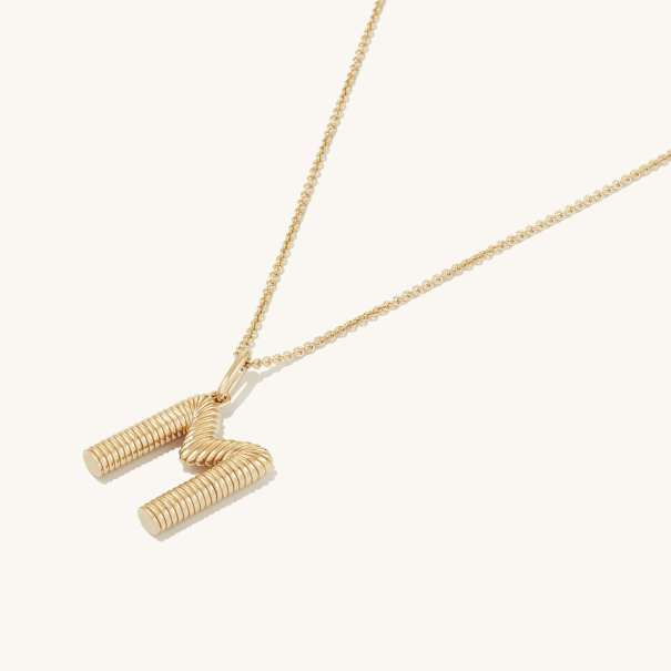 Bold Letter Pendant Necklace - £130 Mejuri