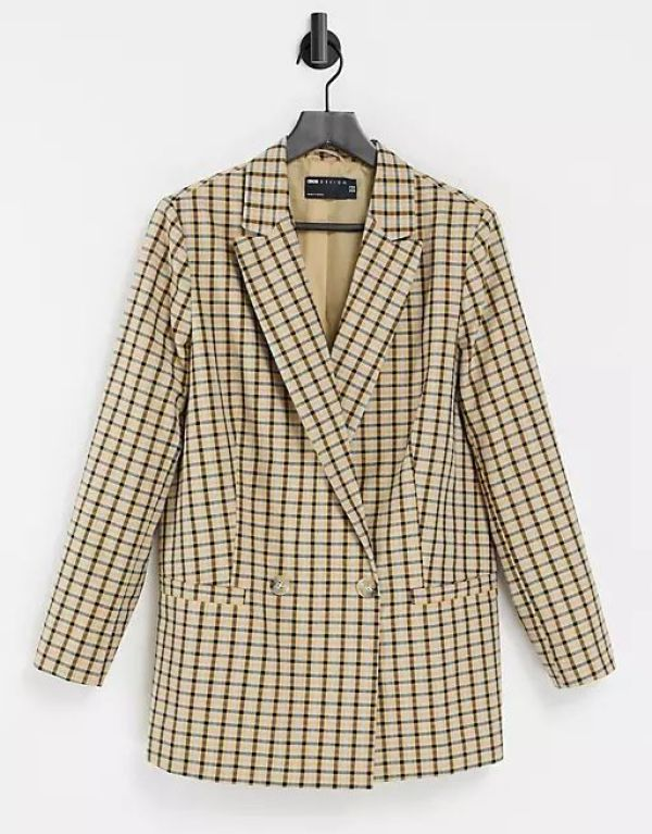 ASOS Strong Shouldered Asymmetric Suit Blazer