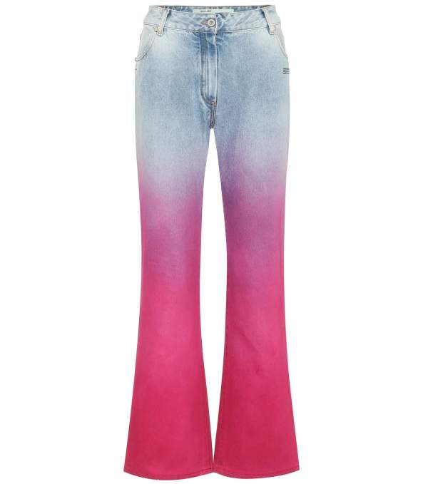 Off-White Mid-Rise Straight Ombre Jeans, £260
