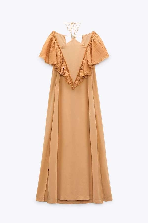 Zara Frilled Halter Dress