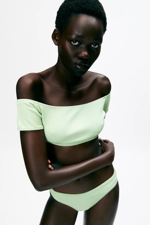Zara Textured Bikini Top