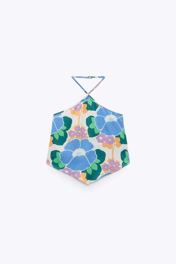 Zara Printed Crop Top