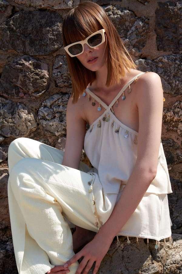 Zara Seashell Camisole Top