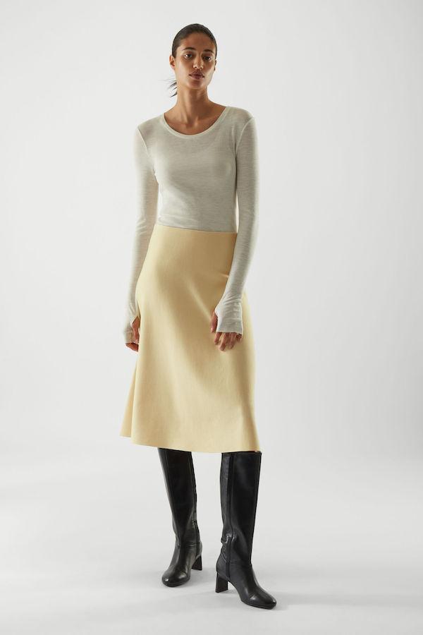 COS Colour-Block Merino Skirt