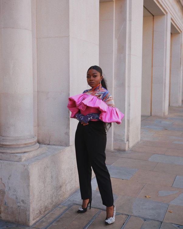 Fisayo Longe wearing a second skin top from kai Collective
