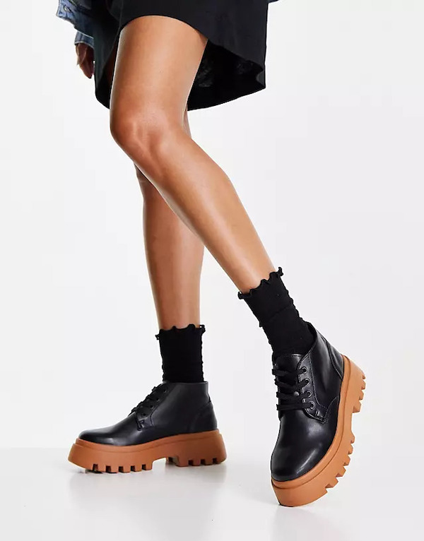 ASOS Abuzz Lace-Up Boots