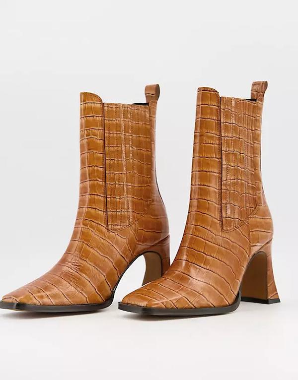 ASOS Radius Premium Leather High-Heeled Boots
