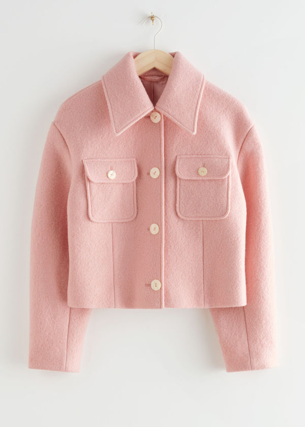 & Other Stories Buttoned Patch Pocket Wool Jacket