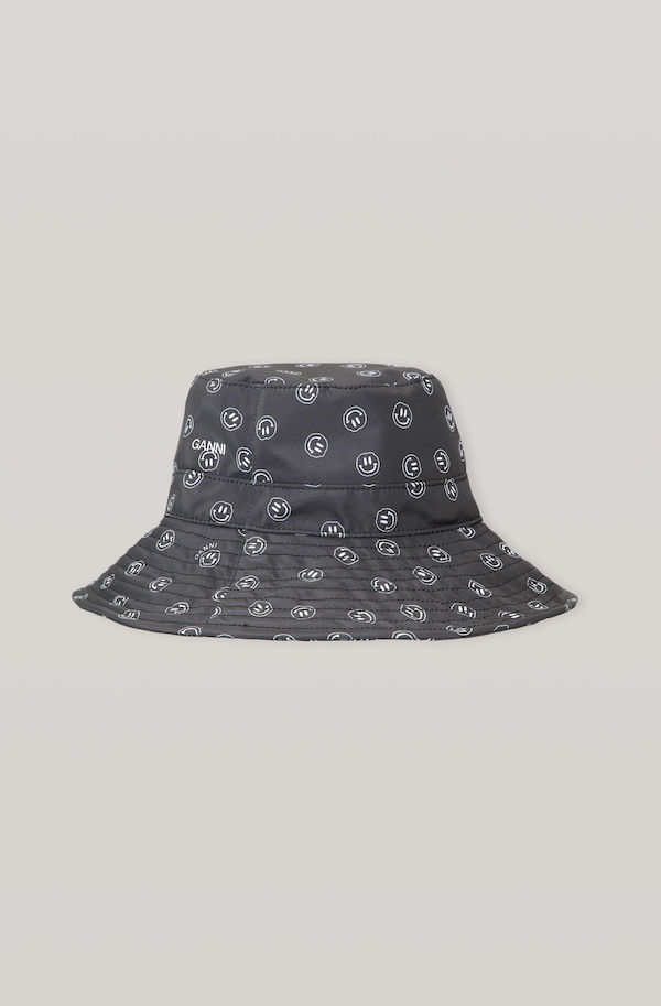 Ganni Recycled Tech Fabric Smiley Bucket Hat