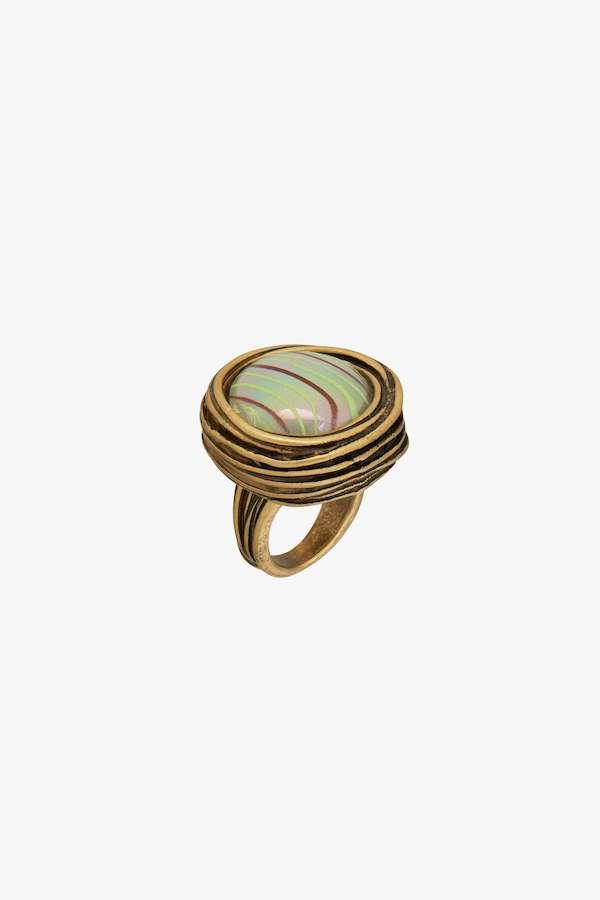 Zara Round Glass Ring