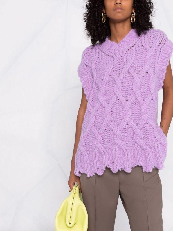 Acne Studios cable knit sweater vest
