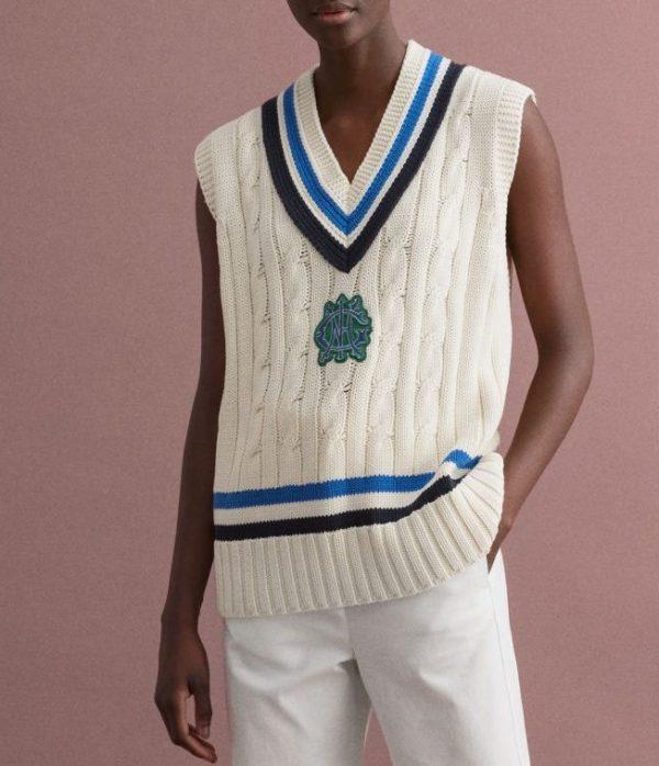Crest sweater vest, £94.50, GANT