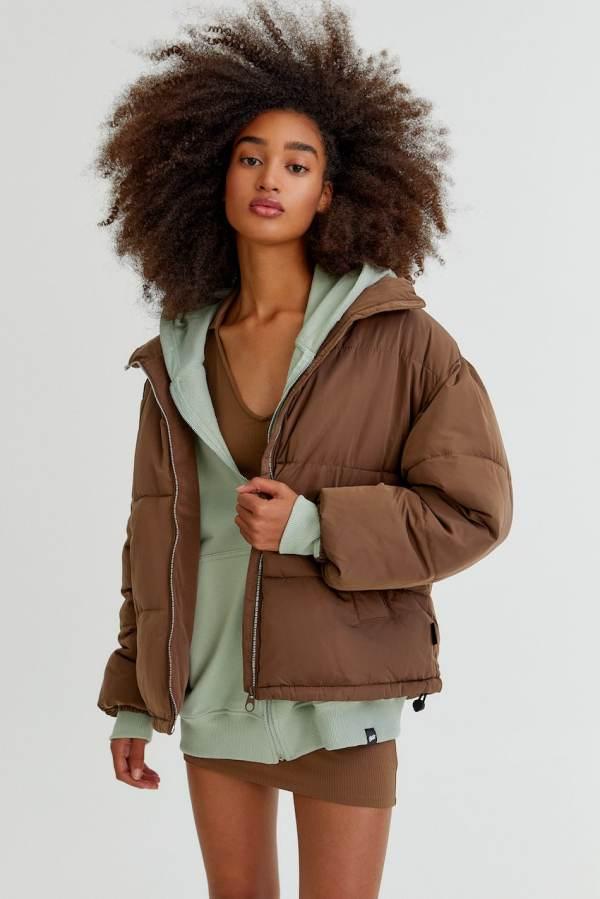 High-collared puffer jacket Pull & Bear