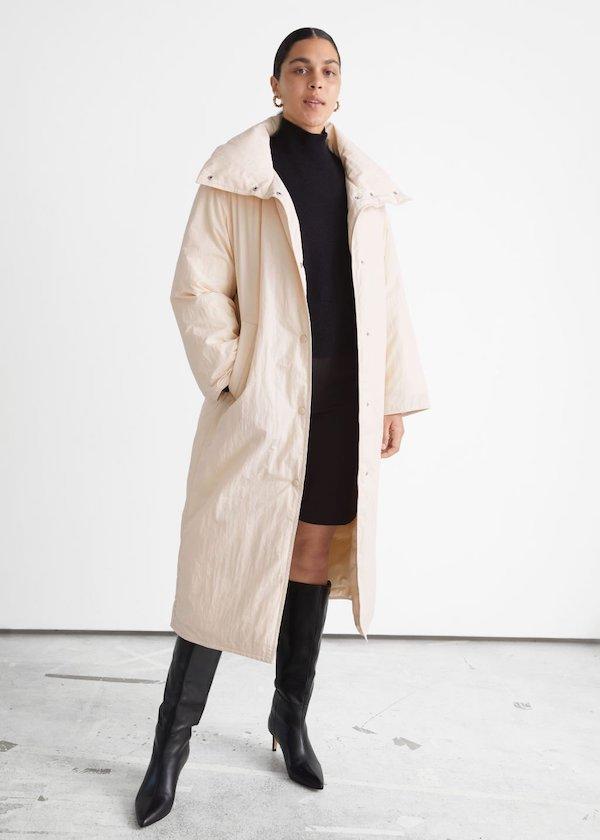 Oversized Boxy Long Puffer Jacket