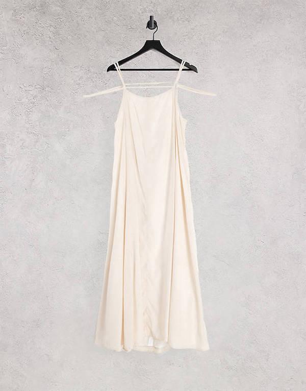 Backless Smock Midaxi Slip Dress Ghospell