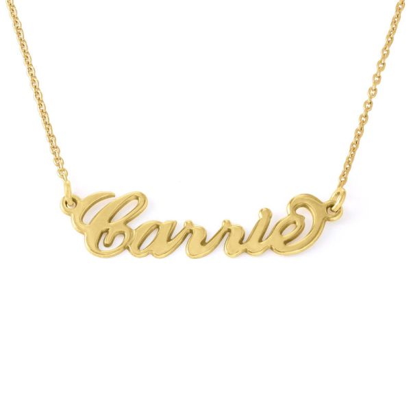 Small 18ct Gold-Plated Silver Carrie Name Necklace