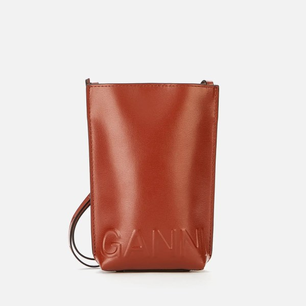 Ganni Women's Recycled Leather Small Cross Body Bag
