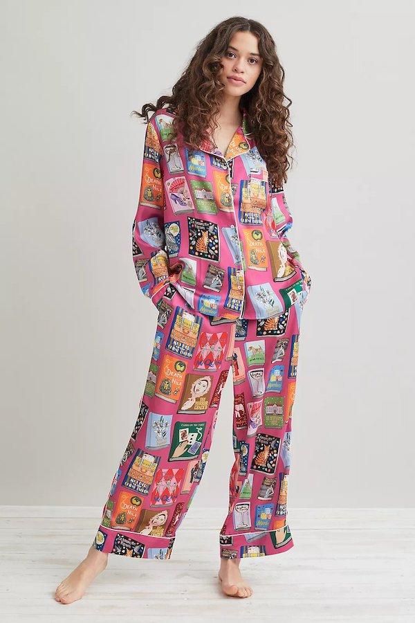 Agatha Christie Pyjama Trousers Set Karen Mabon at Anthropologie