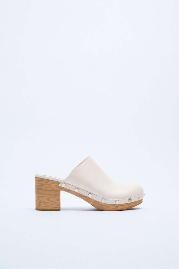 Studded Heeled Clogs Zara