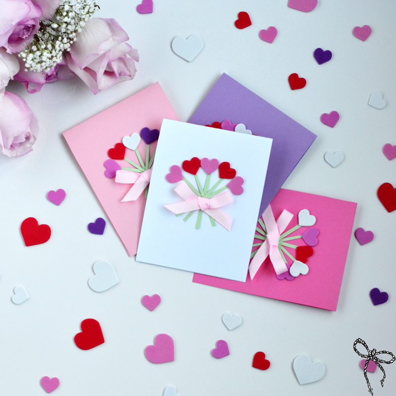 DIY Valentines Day Cards Wear Bows And Smile