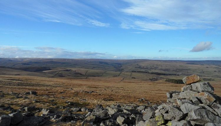 Rookhope valley from the cairn on Carrs Top