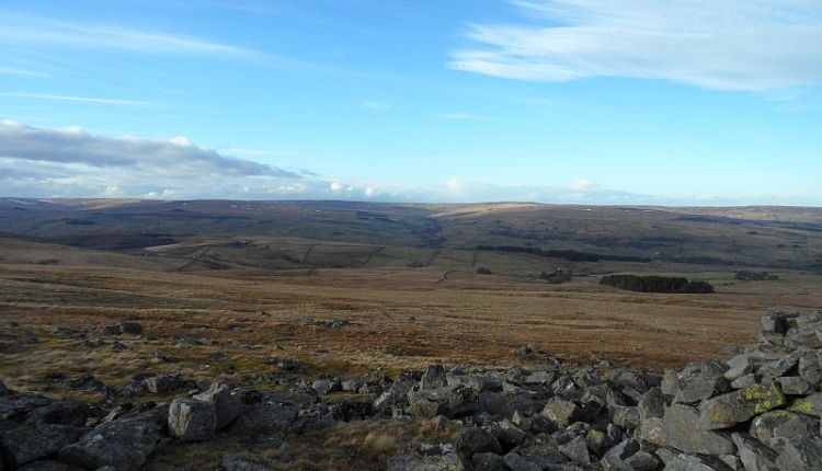 Rookhope valley from the cairn on Carrs Topm